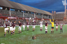 Hearts Tynecastle - The Old Lady' 20'' x 30'' Box Canvas